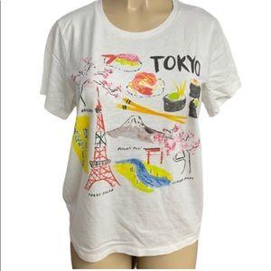 J. Crew Factory Tokyo Collector Tee Sz L Crewneck